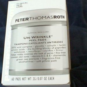 NEW - Peter Thomas Roth Un-wrinkle Pads - 60 Count